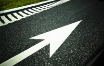 highway, traffic, road, asphalt, speed, velocity, cars, infrastructure, arrow, warning signs,